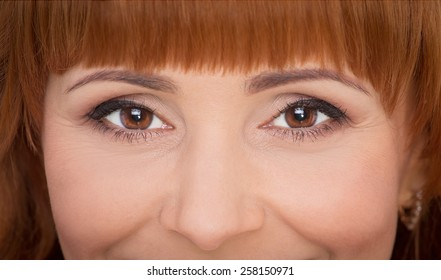 Close up portrait of beautiful smiling woman