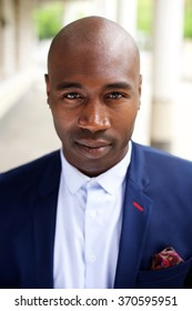 Close up portrait of a fashionable black businessman