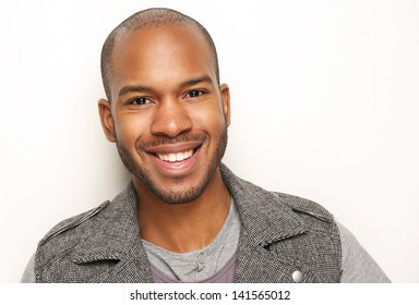 Close up portrait of a handsome young man smiling
