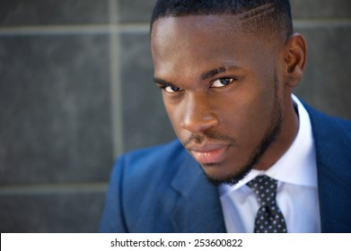 Close up portrait of a modern african american businessman