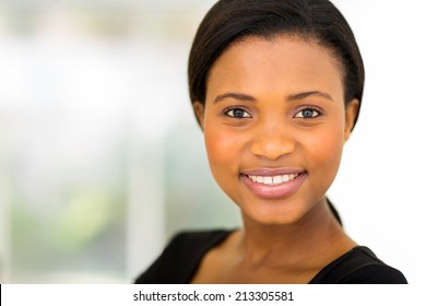 close up portrait of pretty african businesswoman