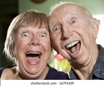 Close Up Portrait of Senior Couple