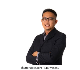 Close up portrait of a smiling asian man
