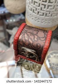 Close up portrait of a vintage minature chest