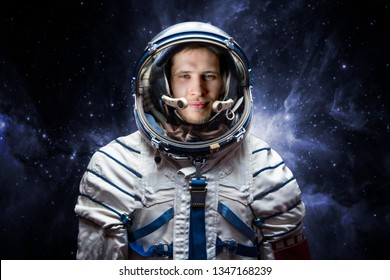 close up portrait of young astronaut completed space mission. Elements of this image furnished by nasa