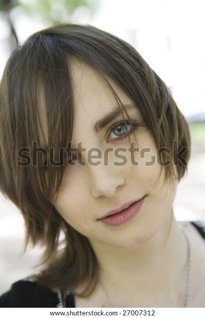 Close up portrait of young girl