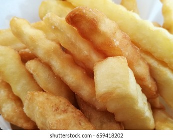 Close up of potatoes fried
