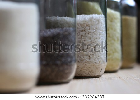 Close Produce Glass Jars Reused Bulk Stock Photo Edit Now
