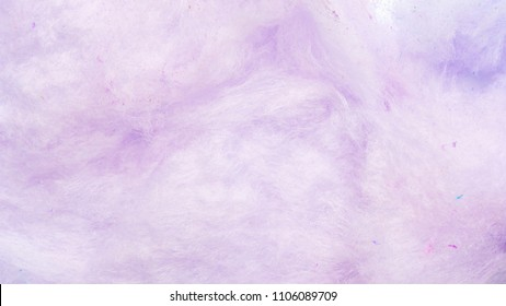 Close up of purple cotton candy for a background.