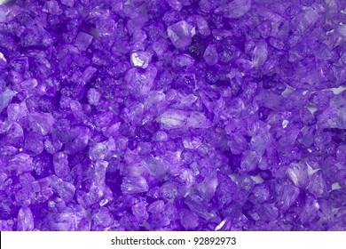 A close up of purple crystal rocks.
