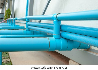 Close Up pvc pipe in structure.