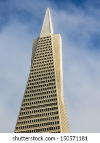close up of Pyramid building in San Francisco