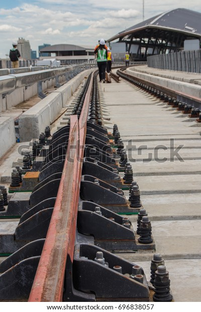 Close Rail Expansion Joint Fastener Hold Stock Photo (Edit Now