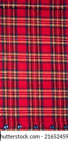 Close up of Red and Blue Plaid Flannel