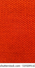 Close up red or orange Texture / Background, Fabric surface