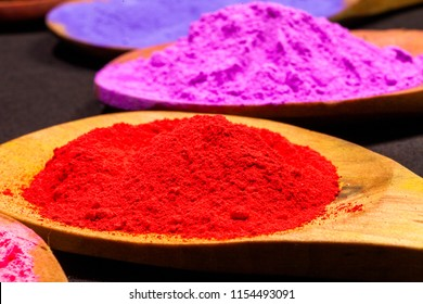 chalk powder on wooden spoon images stock photos vectors