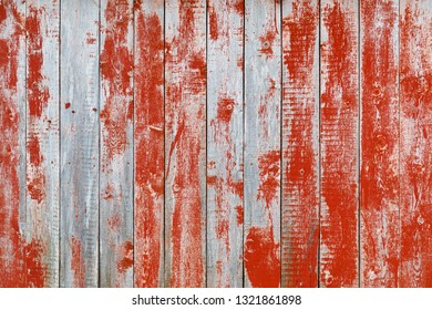 close up of red wooden house wood board, old