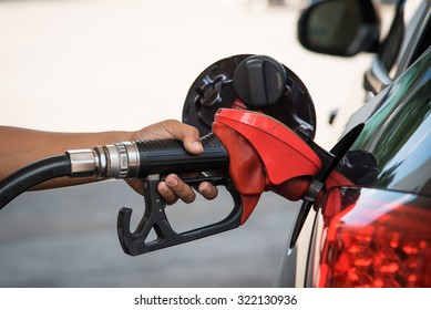 Close up refuel energy of the car