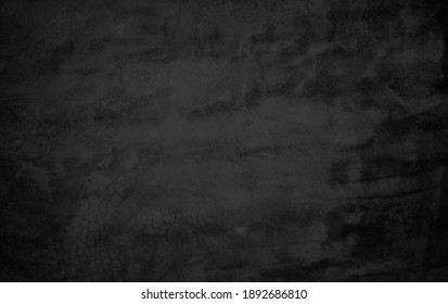 Close up retro plain dark black cement concrete wall background texture for show or advertise or promote product and content on display and web design element concept decor.