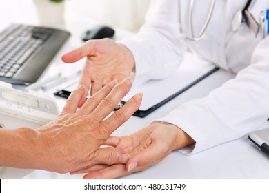 Close up of  rheumatism / arthritis medical examination.