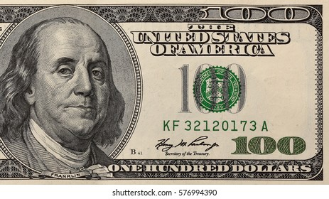 Close Up of the Right Side of a One Hundred Dollar Bill