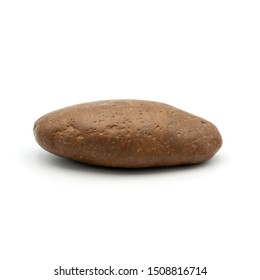 Close up rock ,Different kind of pebbles stone ,isolated on the white background.