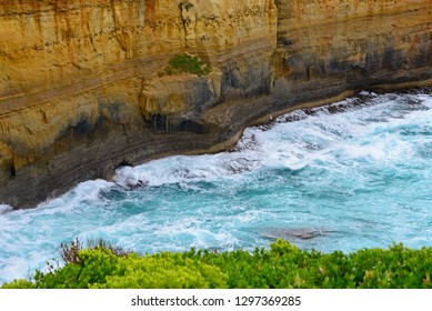 Close up of the rock at Great Ocean Road.Beautiful landmark in Victoria,Australia.Dream destination for traveller.A famous collection of stone stacks off the shore of the Port Campbell National Park