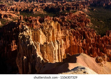 Close up Rock Hoodoos during sunrise, Valley view in the morning at Bryce Canyon National Park, Utah, USA