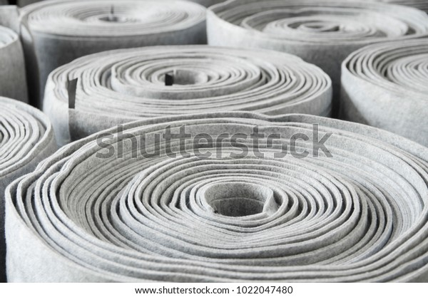 Close Roll Car Insulation Polyester Fiber Stock Photo (Edit