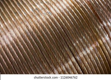 close up Roll of safety copper ground rod use for protection electric leakage in electrical work