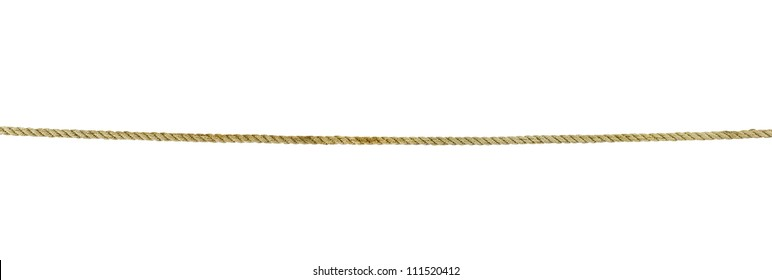 close up of rope part on white background