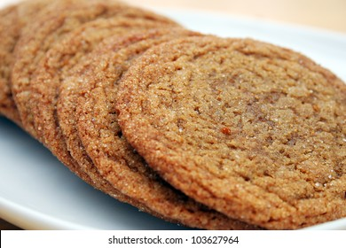 Close Up of a Row of Brown Sugar Cookies