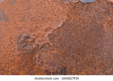 Close up Rust on sheet metal, Rush Background.