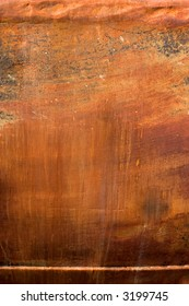 close up of a rusty ship's hull, perfect for use as a background