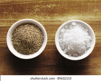 close up of salt and pepper
