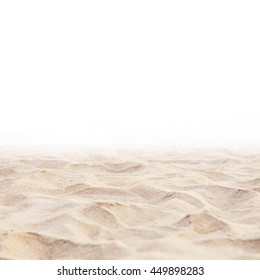 Close up Sand isolated, Soft sand background. Summer background.