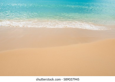 close up Sand  and ocean on tropical  Beach at Phuket Thailand