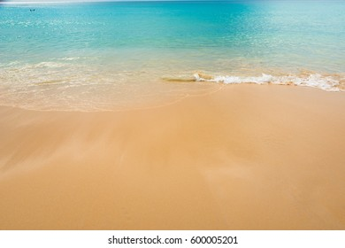 close up Sand  and ocean on tropical  Beach at Phuket Thailand