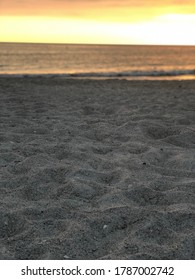 close up of sand on beach during surise
