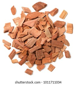 close up of sandalwood isolatd on the white background