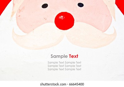 Close Up of Santa Face with Sample Text
