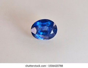 Close up of sapphires with light background