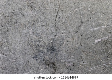 close up of scratched aluminium background texture
