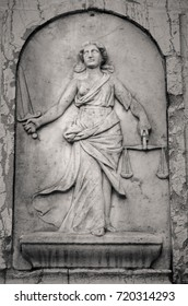close up of a sculpture of justice. symbol. art. law