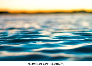 close up sea surface
