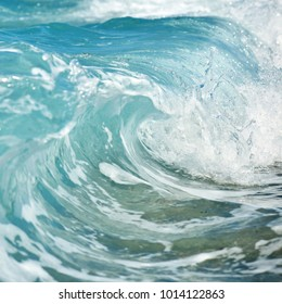 Close up sea wave background. Summer holiday concept.