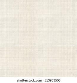 Close up seamless cream linen burlap texture background