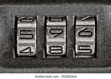 Close up of secret code on baggage
