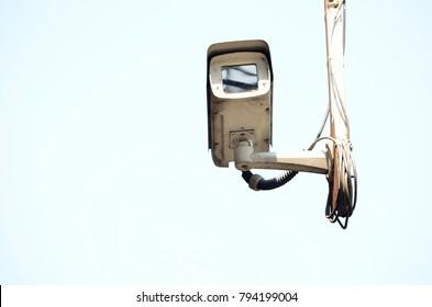 Close up of security CCTV camera