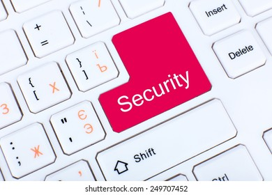 Close up of Security keyboard button